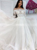 A-line Wedding Dress with Long Sleeves,Elegant Bridal Dress,12211