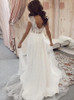 A-line V-neck Wedding Dress,Simple Garden Bridal Dress,12216