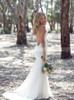 Bohemian Lace Wedding Dress,Open Back Spaghetti Straps Wedding Dress,12228