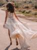 Two Piece Beach Wedding Dress with Slit,Bohemian Wedding Dress,12230