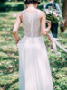 Ivory Chiffon Beach Wedding Dress,Simple Garden Wedding Dress,12231