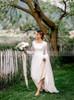 Vintage Long Sleeves Wedding Dresses,Modest Lace Bridal Dress,12254