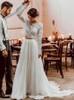 Two Piece Wedding Dress Lace Top Chiffon Skirt,12255