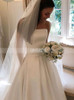 Strapless A-line Bridal Dress with Pockets,12280