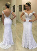 2 in 1 Lace Wedding Dress with Removable Skirt,12282