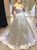 Simple Satin Bridal Dress with Pockets,12291