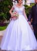 Garden Wedding Dress with Cap Sleeves,12296