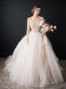 Elegant Ball Gown Bridal Dress, Long Sleeves Organza Tulle Wedding Dress,12299