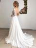 Chiffon Beach Bridal Dress,Long Beach Wedding Dress,Summer Wedding Dress,11119