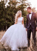 Simple Wedding Dresses,Destination Bridal Gown,Tulle Bridal Gown,11149