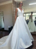 Satin Bridal Dress,A-line Wedding Dress,Modest Wedding Dresses,11161