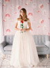 Tulle Ball Gown Bridal Gown,Champagne Wedding Dress,Off the Shoulder Wedding Dress,11165