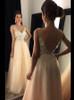 Champagne Prom Dress,Tulle Long Prom Dress,Elegant Evening Dress,11170