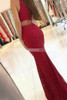 Red Lace Prom Dresses,Mermaid Prom Dress,Long Evening Dresses,11183