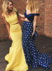 Mermaid Two Piece Prom Dresses,Fitted Prom Dress for Teens,11208