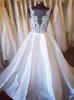 A-line Satin Wedding Dresses,Modest Bridal Dress,11308