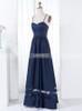 Dark Navy Bridesmaid Dresses with Spaghetti Straps,Satin A-line Bridesmaid Dress,11323