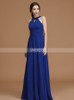 Royal Blue Long Bridesmaid Dresses,Spring Chiffon Bridesmaid Dress,11333