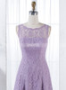 Lilac Bridesmaid Dresses,Short Bridesmaid Dress,Lace Bridesmaid Dresses,11347