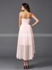High Low Blush Pink Bridesmaid Dresses,Beach Bridesmaid Dress,11370