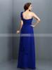 Simple One Shoulder Bridesmaid Dresses,Chiffon Royal Blue Bridesmaid Dress,11374