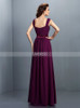 Grape Bridesmaid Dresses,Long Bridesmaid Dress with Straps,11377