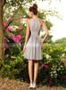 Silver Bridesmaid Dresses,Short Ruched Bridesmaid Dress,11402
