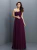 Long Grape Bridesmaid Dresses,Chiffon Chic Bridesmaid Dress,11408