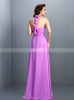 Halter Bridesmaid Dresses,Chiffon Beach Bridesmaid Dress,11414