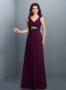 Grape Bridesmaid Dresses with Straps,Empire Bridesmaid Dress,11420