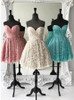 Turquoise Lace Homecoming Dresses,Pleated Sweetheart Short Prom Dress,11533