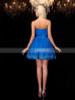 Royal Blue Strapless Sweet 16 Dress,Ruched Short Cocktail Dress,11541