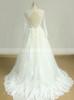 Lace Wedding Dress with Long Sleeves,Cutout Back Bridal Dress,11601