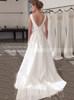 Modern A-line Wedding Dresses,Illusion V-neck Wedding Dress,11639