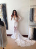 Mermaid Lace Wedding Dresses with Long Sleeves,Open Back Wedding Dress,11645