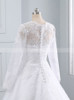 Lace Wedding Dress with High Neck,Long Sleeves Bridal Dress,11691
