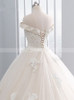 Champagne Ball Gown Wedding Dresses,Off the Shoulder Bridal Gown,11703