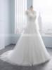 A-line Wedding Dress with Sleeves,Elegant Tulle Wedding Dress,11707