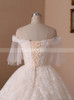 Lace Wedding Dresses with Short Sleeves,Princess Ball Gown Wedding Dress,11716