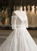 Off the Shoulder Wedding Dresses with Sleeves,Lace Wedding Dress,11721