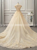 Champagne A-line Wedding Dresses,Off the Shoulder Bridal Gown,11722