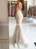 Lace Evening Dresses,Mermaid Fitted Prom Dress,11896