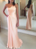 Peach Bridesmaid Dresses,One Shoulder Prom Dress for Teens,11903