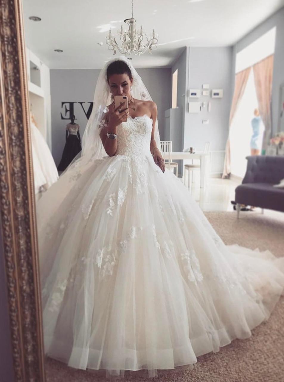 Strapless Wedding Dress,Gorgeous Bridal Gown,20