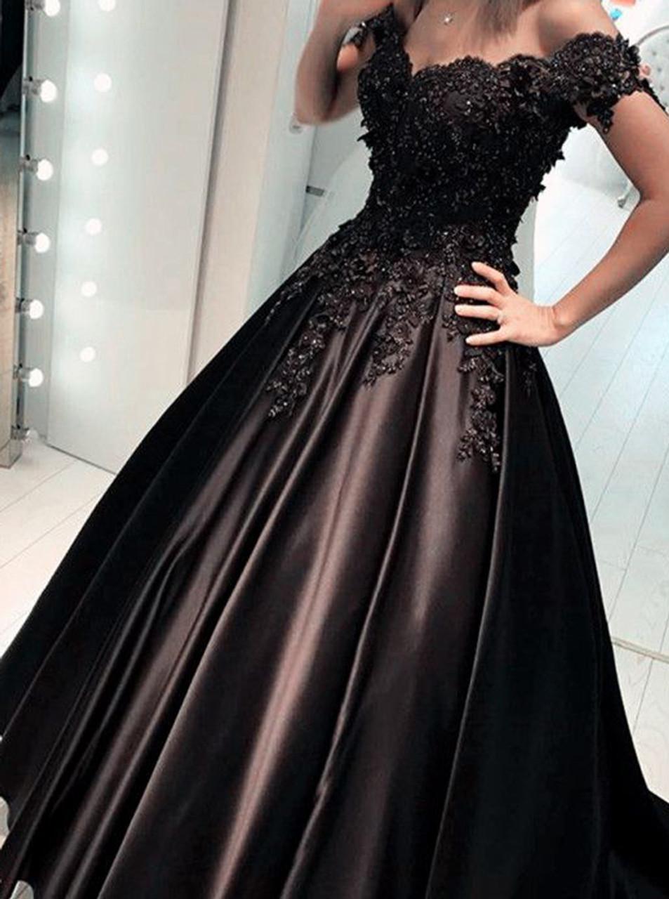 Full Black Prom Dresses