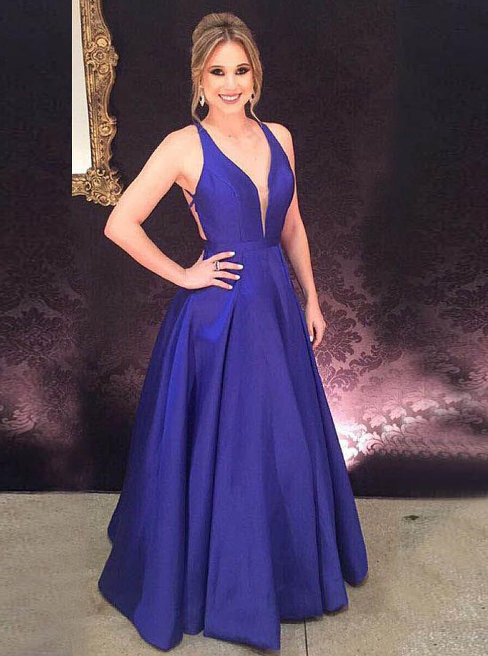 611f340db1 Royal Blue Prom Dresses