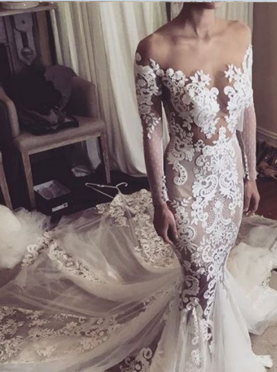 Sexy Wedding Dress With Sleeves 59 Off Plykart Com