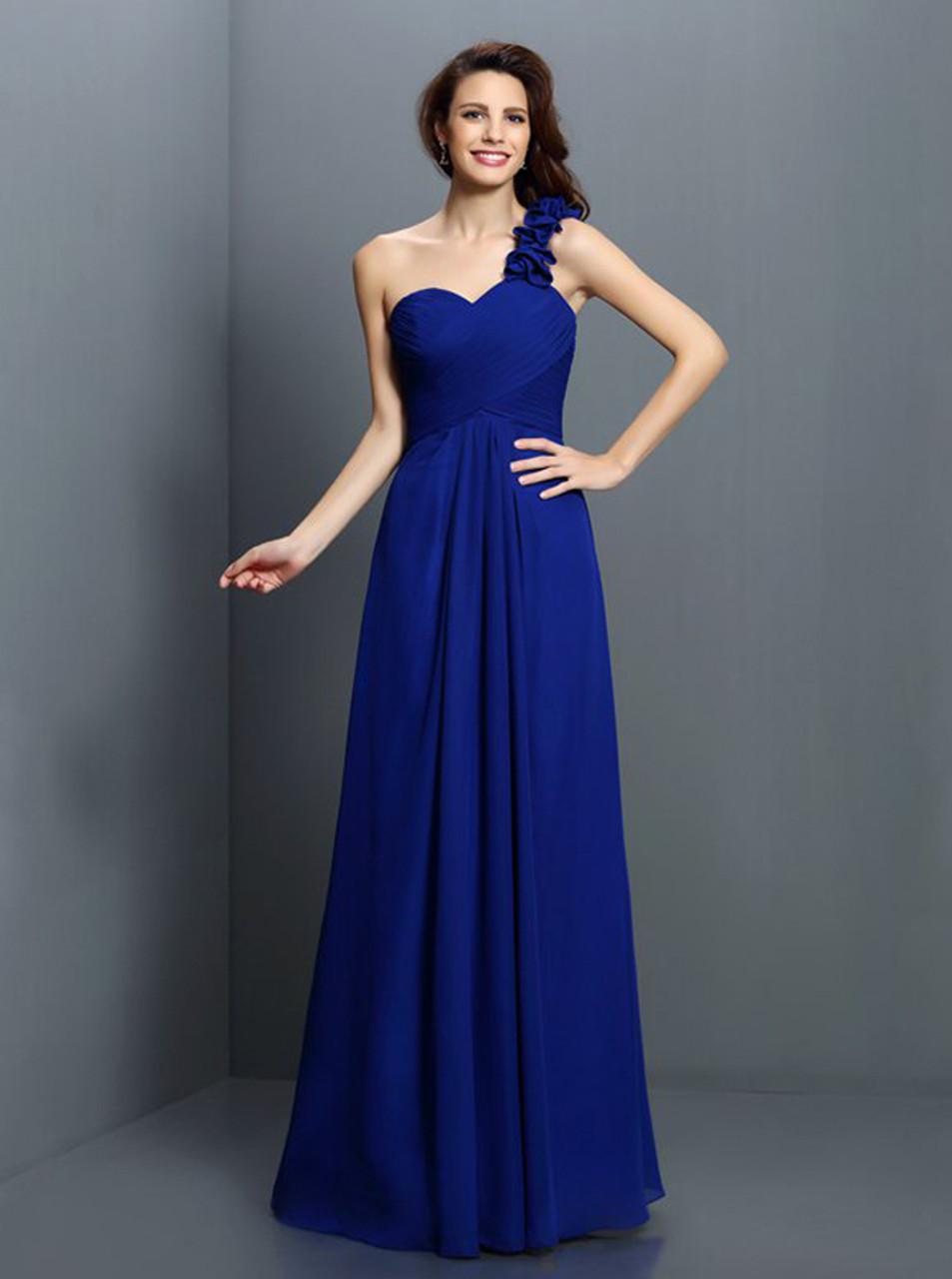 c3c79b3abc6 Simple One Shoulder Bridesmaid Dresses