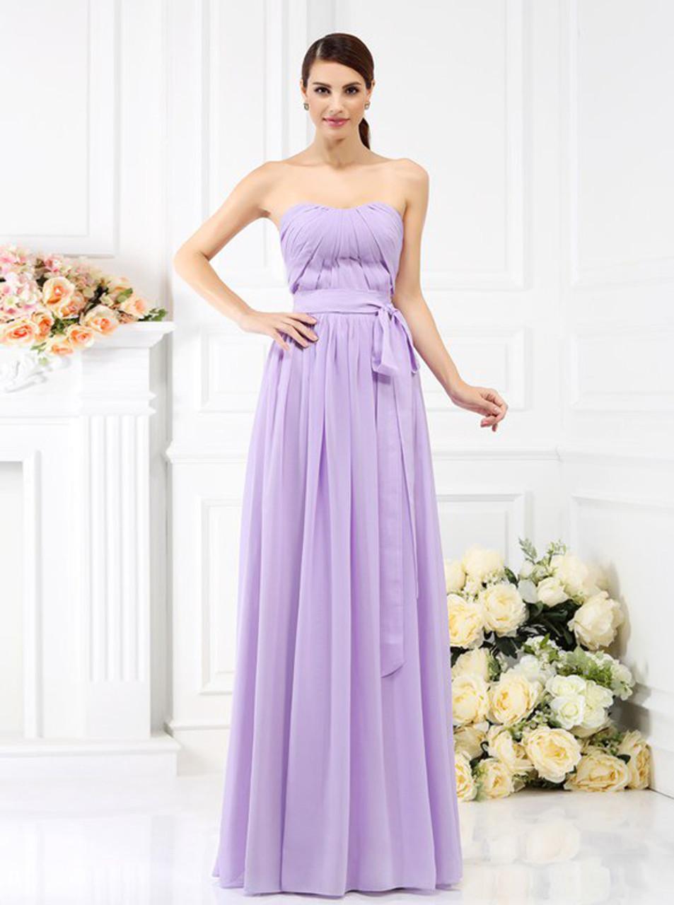Lilac Strapless Dress