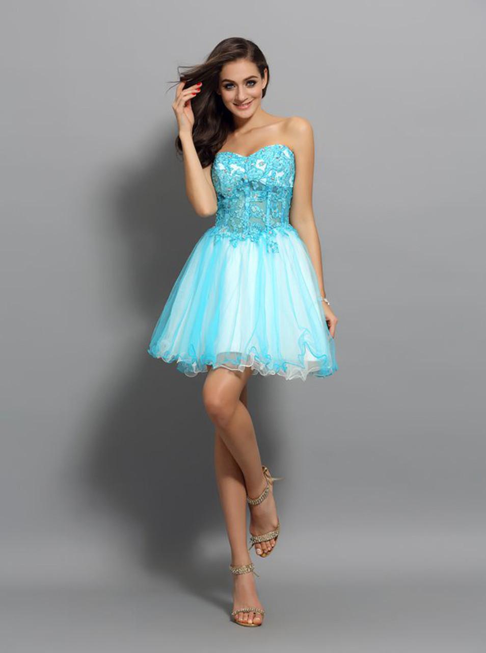 Sweet 16 Dresses Turquoise